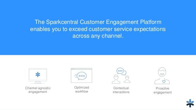 The Sparkcentral Customer Engagement Platform enables you to exceed customer service expectations across any channel. Cont...