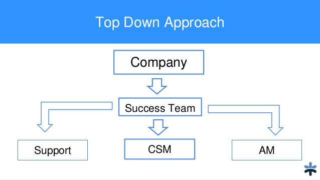 Top Down Approach Company Success Team Support CSM AM