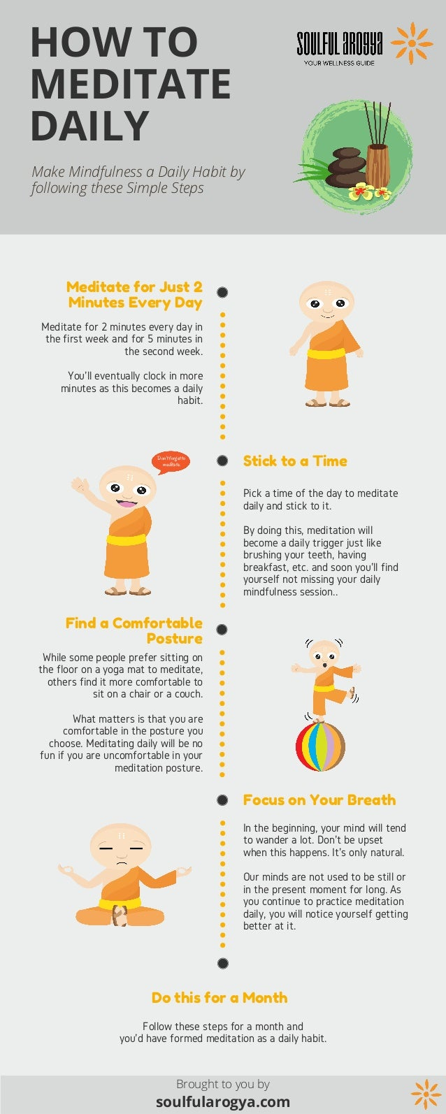 Daily Infographic: How To Meditate Daily [Infographic]