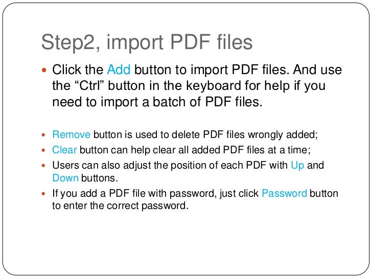 Various pdf files into one