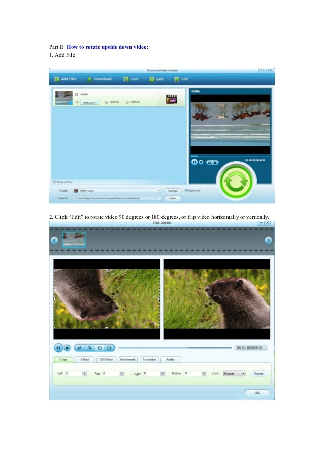 How to merge video and rotate upside down video 4 part ii how to rotate upside down video ccuart Images