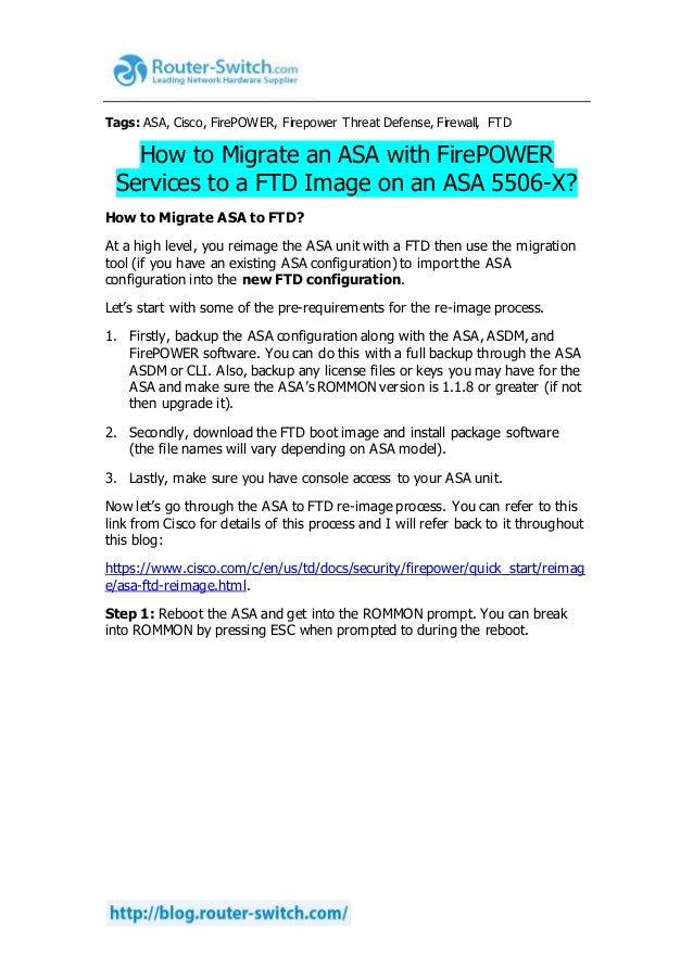 How to migrate an asa with fire power services to a ftd image on an a…