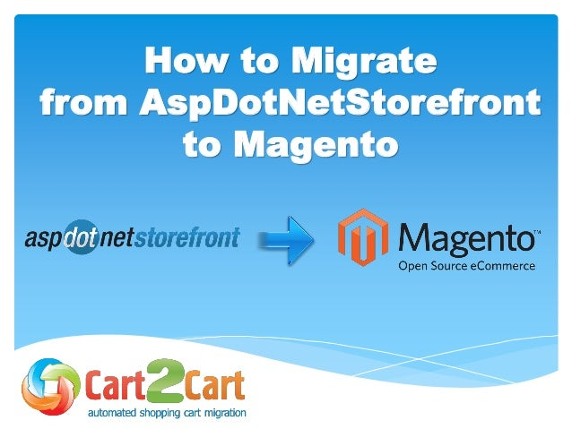 How to Migrate from AspDotNetStorefront to Magento