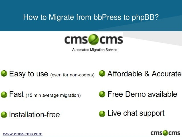 How to Migrate From bbPress to phpBB Slide 2