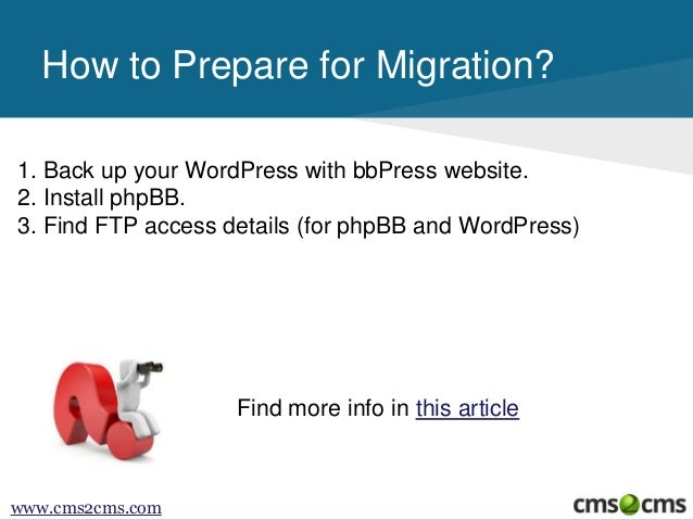 How to Migrate From bbPress to phpBB Slide 3