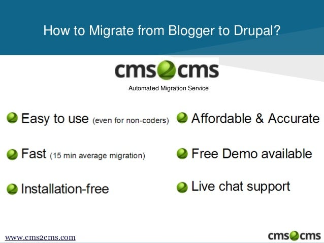How to Migrate from Blogger.com to Drupal Slide 2