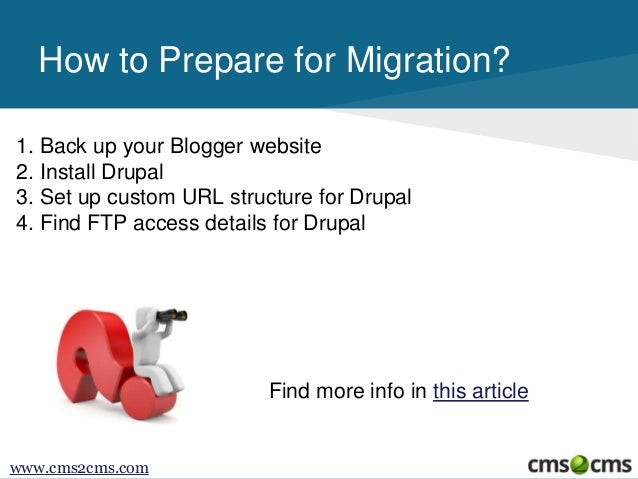 How to Migrate from Blogger.com to Drupal Slide 3