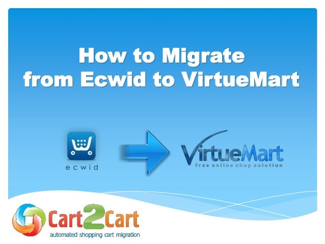 How to Migrate from Ecwid to VirtueMart