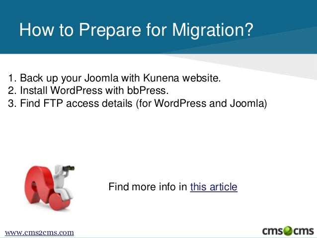 How to Migrate From Kunena to bbPress Slide 3