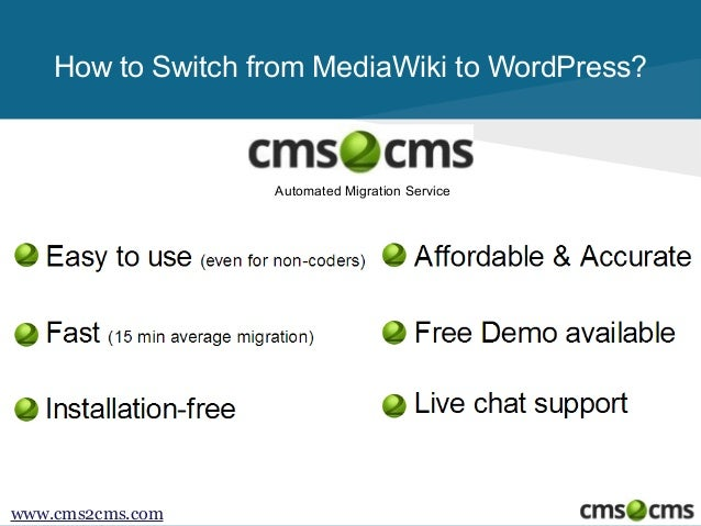How to Migrate from MediaWiki to WordPress Slide 2