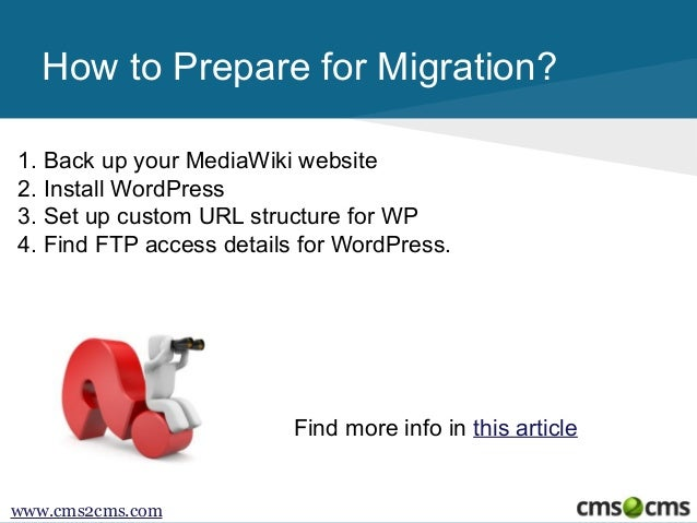 How to Migrate from MediaWiki to WordPress Slide 3