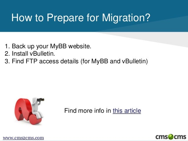 How to Migrate from MyBB to vBulletin Slide 3