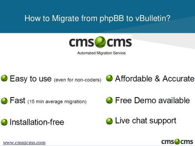 How to Migrate from phpBB to vBulletin Slide 2