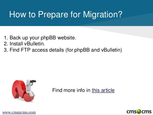 How to Migrate from phpBB to vBulletin Slide 3