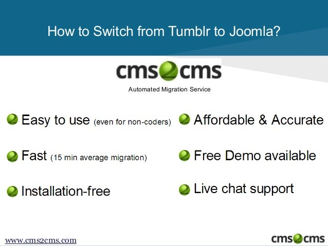 How to Migrate from Tumblr to Joomla Slide 2