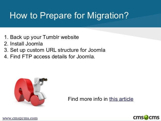 How to Migrate from Tumblr to Joomla Slide 3