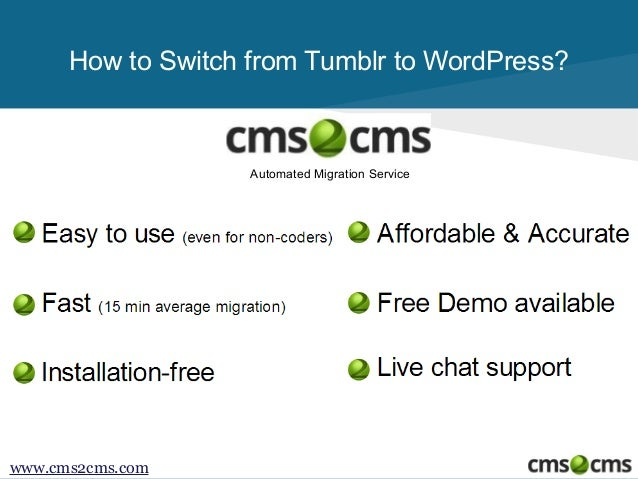 How to Migrate from Tumblr to WordPress Slide 2