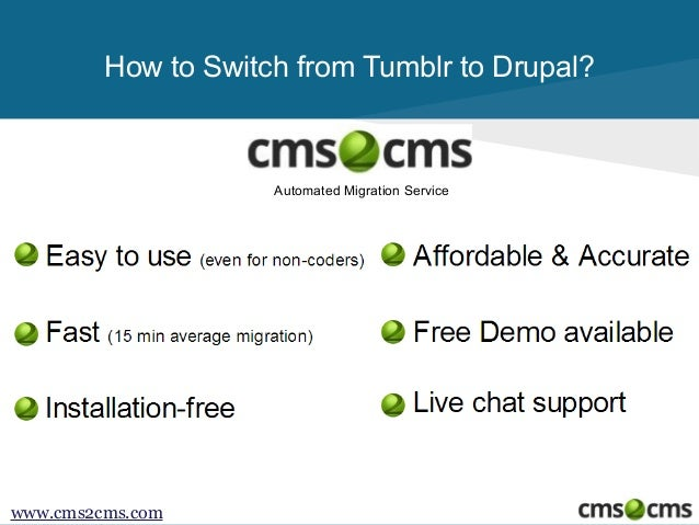 How to Migrate from Tumblr to Drupal Slide 2