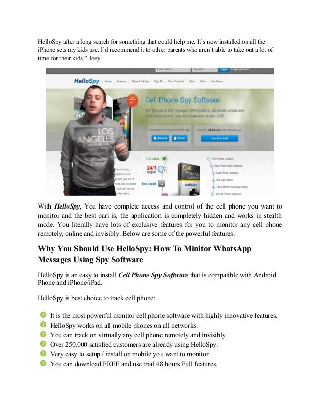 How to minitor whats app messages using spy software Slide 3