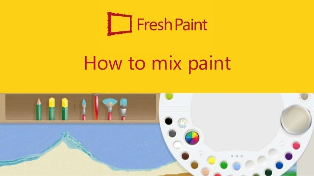 How to mix paint