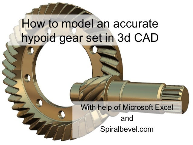 How to model an accurate hypoid gear set in 3d CAD