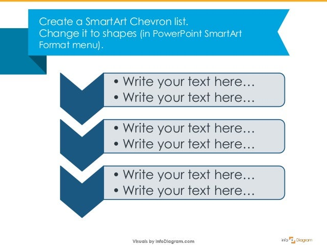 how to create an attractive chevron list in powerpoint
