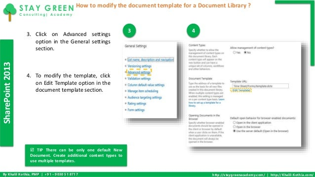 How to modify the document template for a document library in sharepo template for a document library 3 sharepoint2013 maxwellsz