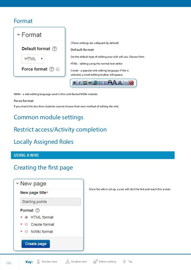 How to Moodle Course Creator essential 2.7 Manual