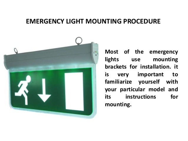 how to open emergency lights