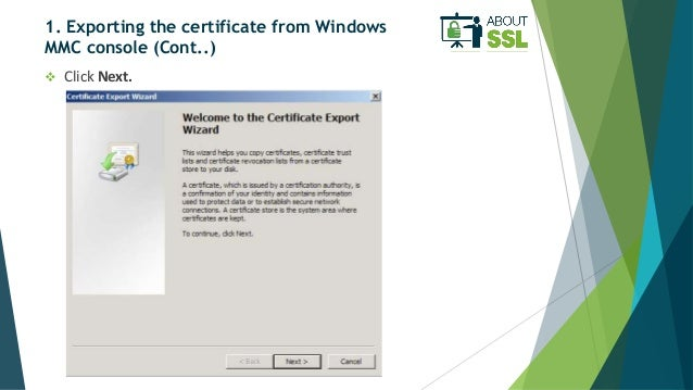 How to Move SSL Certificate from One Windows Server to Another