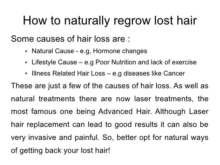 Regrow Hair Naturally Laser