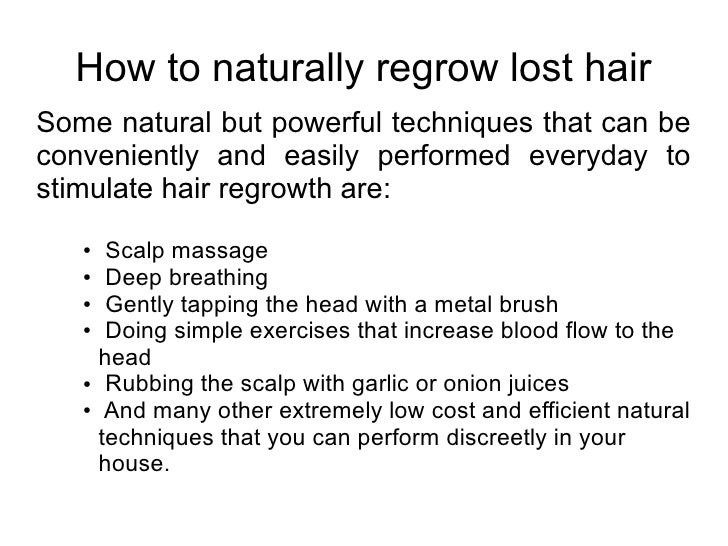 how to grow lost hair naturally