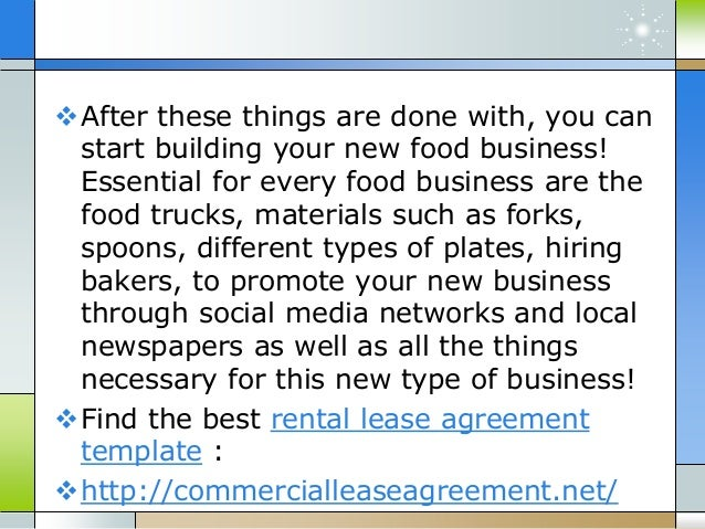 How To Negotiate A Restaurant Lease Agreement - Restaurant lease agreement template