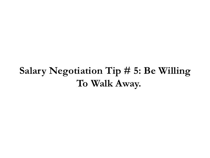 negotiating salary for a new job