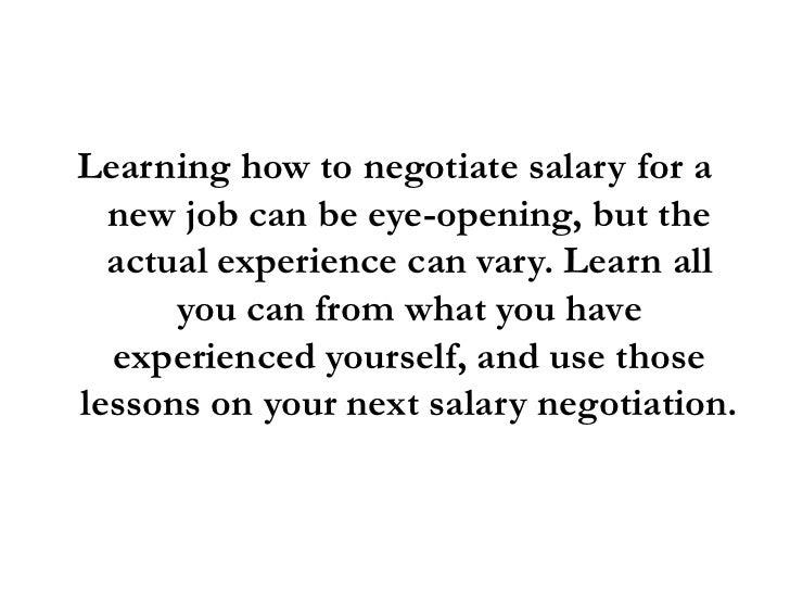 job salary negotiation