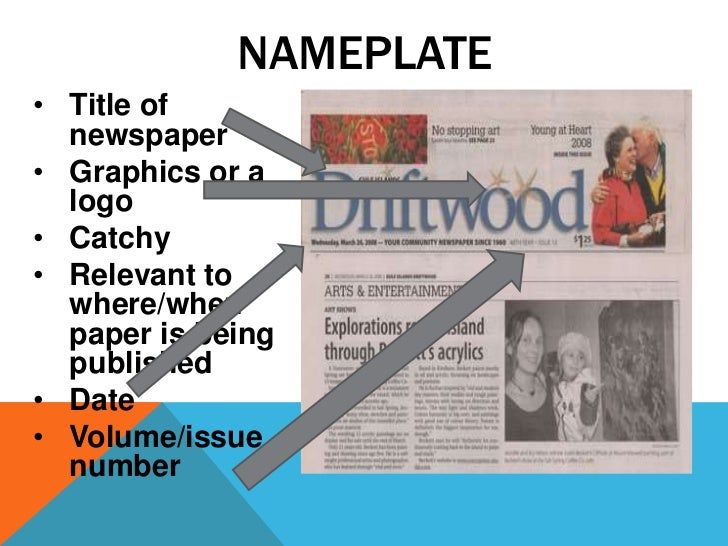 Writing assignment newspaper article