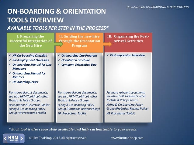 Onboarding U0026 Orientation   How To On Board New Employees. A Manual Fou2026