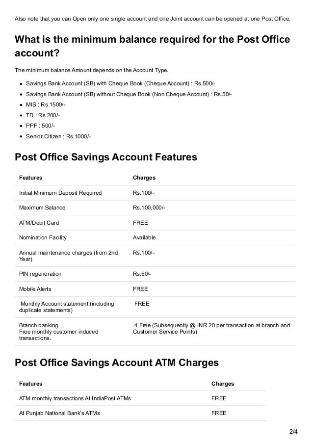 How to open a post office savings account all you need to know abou - Post office joint account ...
