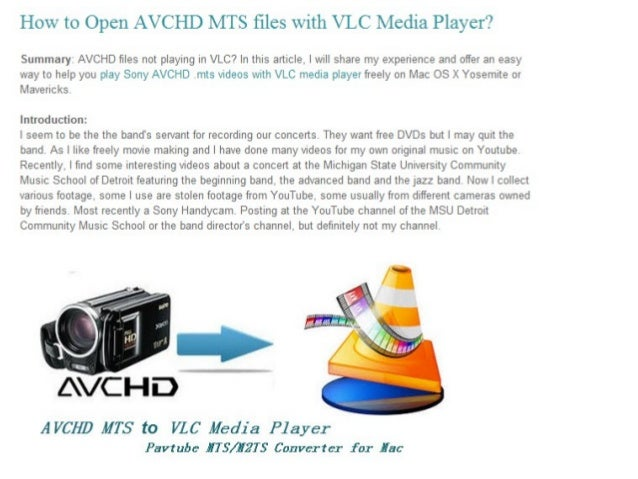 How to open avchd mts files with vlc media player