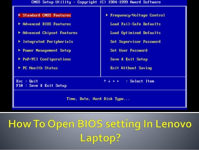 How to open bios setting in lenovo laptop