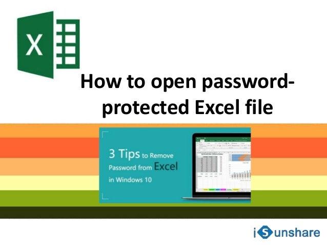 remove password excel windows 10