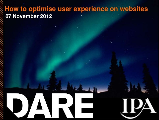 How to optimise user experience on websites07 November 2012