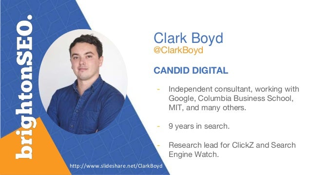 Clark Boyd @ClarkBoyd CANDID DIGITAL - Independent consultant, working with Google, Columbia Business School, MIT, and man...