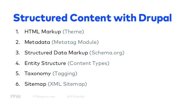 how to optimize your drupal site with structured content