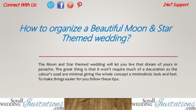 How To Organize A Beautiful Moon Amp Star Themed Wedding