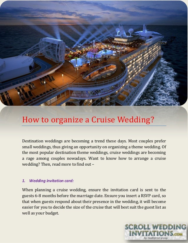 How to organize a cruise wedding?