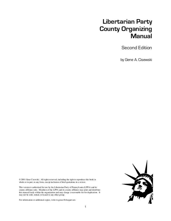 Libertarian Party                                                                                             County Organ...