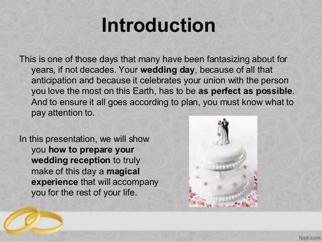 How To Organize A Perfect Wedding Reception