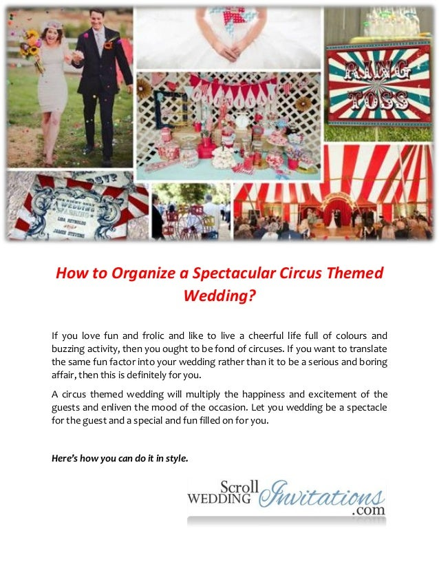 How to organize a spectacular circus themed wedding