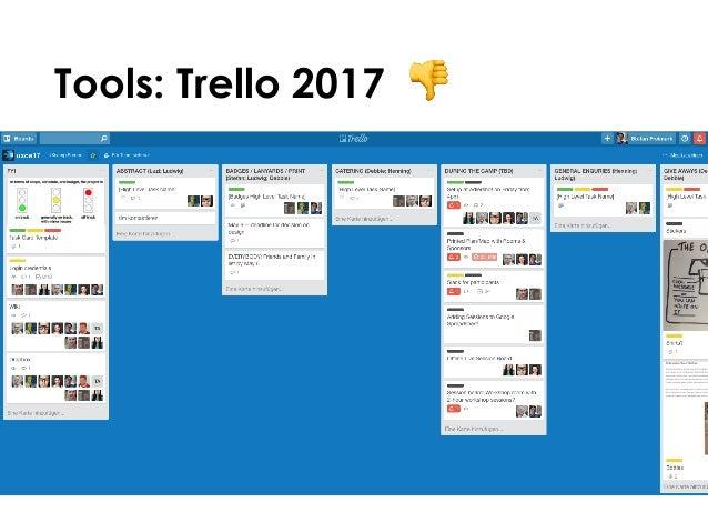 Tools: Trello 2017 👎